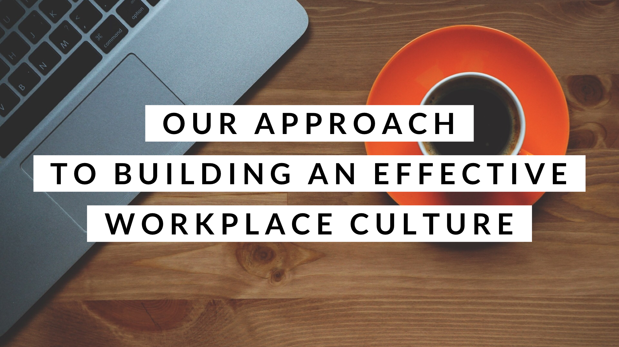 Our Approach to an Effective Workplace Culture
