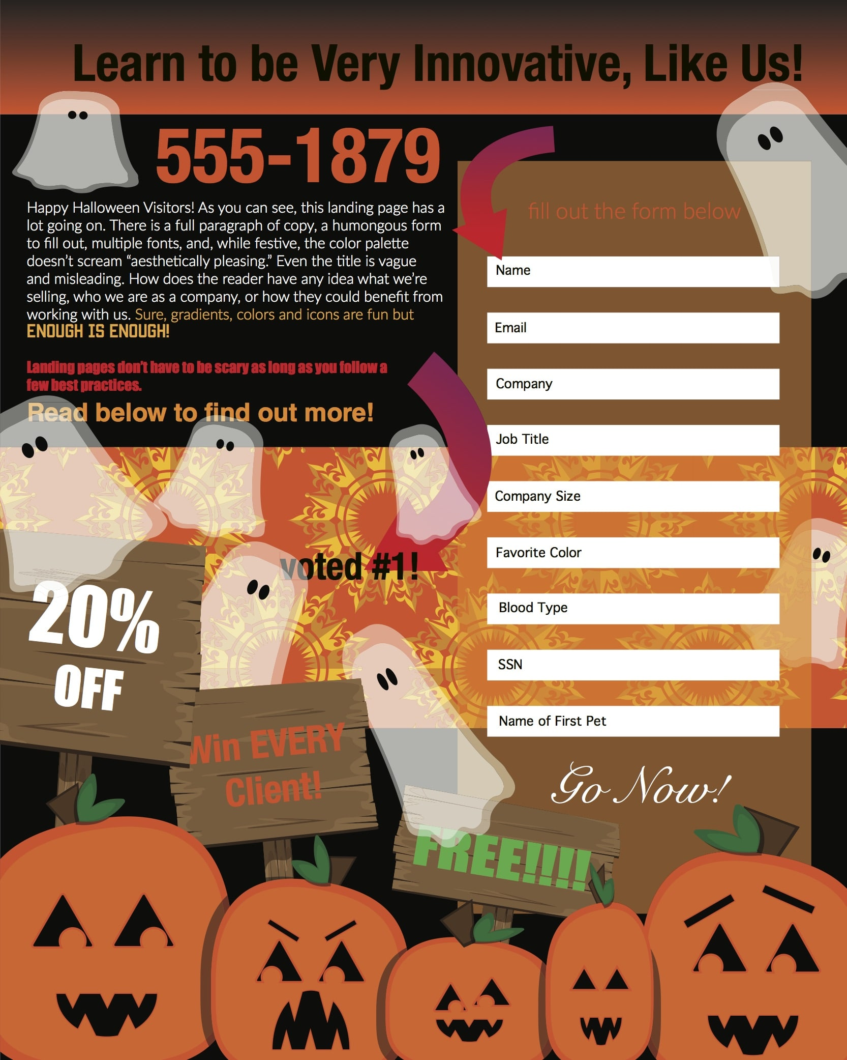 Is Your Spooky Landing Page Scaring Away Potential Leads